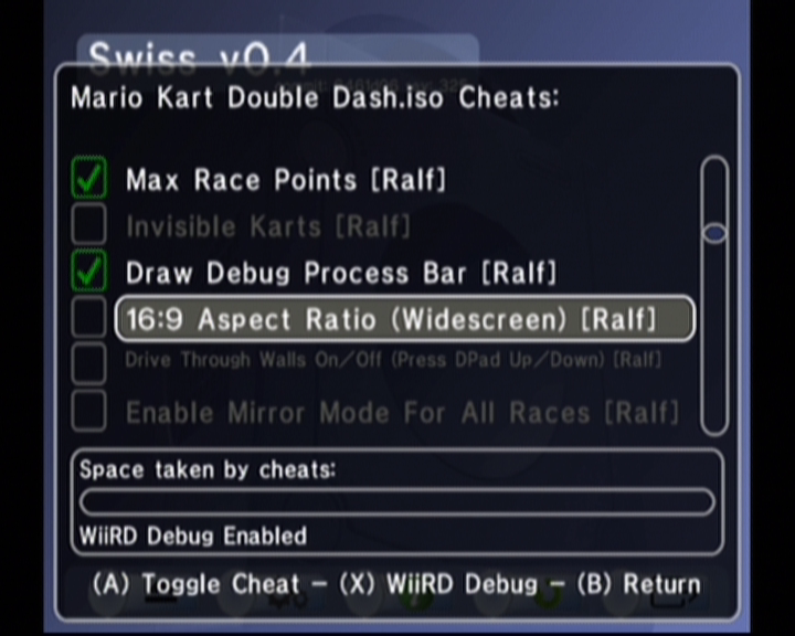Guide to using cheats in Swiss - gc-forever - Gamecube/Wii